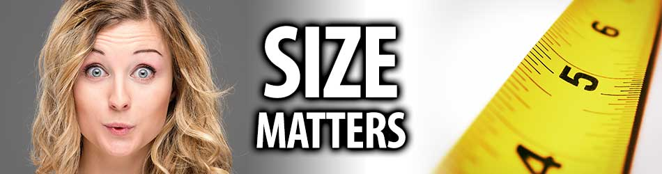 Illustration of How Size Matters with Attractive Woman
