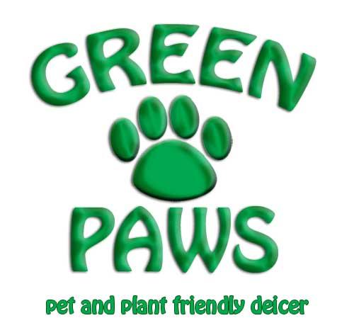 Green Paws Deicer Logo